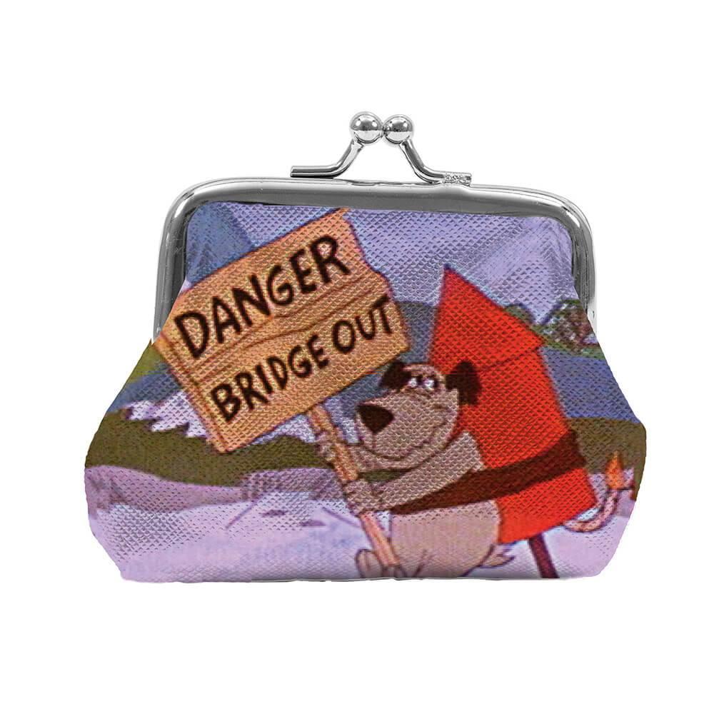 Porta Moedas Hanna Barbera Muttley Danger Bridge Colorido em PVC - Urban - 9x8 cm