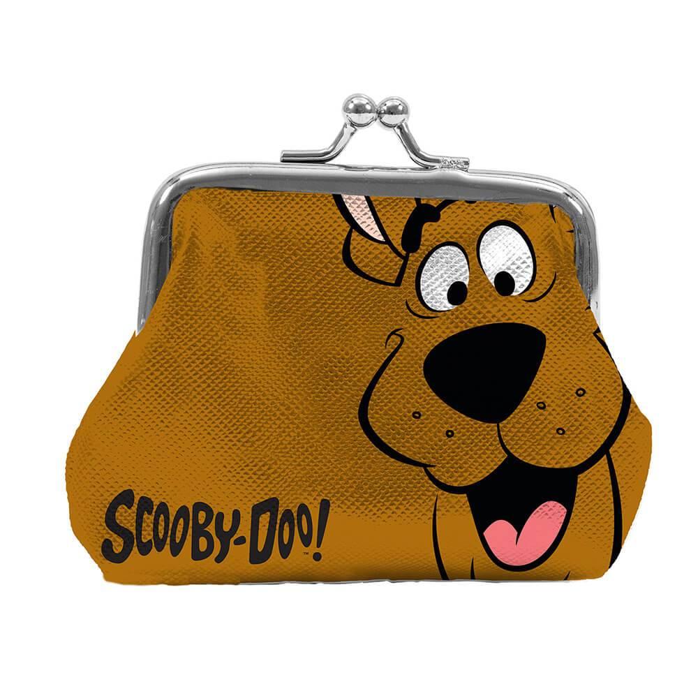 Porta Moedas Hanna Barbera Scooby Doo Face Fundo Marrom - Urban - 9x8 cm
