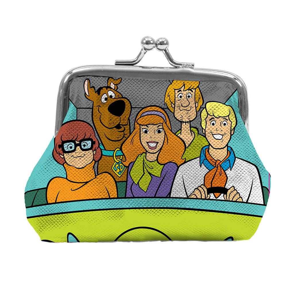 Porta Moedas Hanna Barbera Scooby Everybody In The Mistery Machine Colorido em PVC - Urban - 9x8 cm