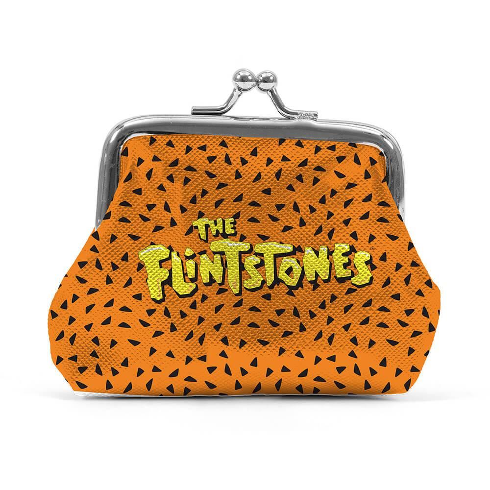 Porta Moedas Hanna Barbera The Flintstones Fundo Laranja Dots em PVC - Urban - 9x8 cm