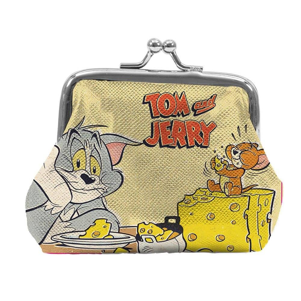 Porta Moedas Hanna Barbera Tom And Jerry Cat In Love Colorido em PVC - Urban - 9x8 cm