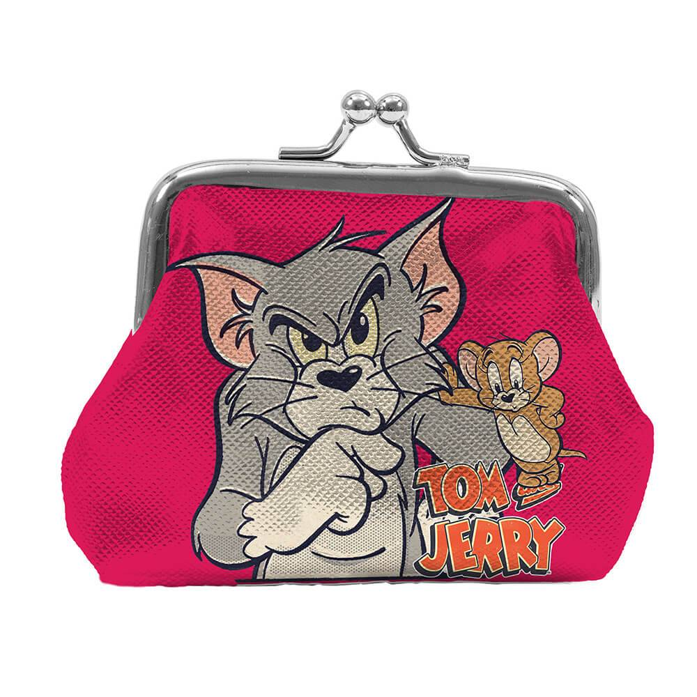 Porta Moedas Hanna Barbera Tom And Jerry Mad Cat With Mouse Colorido em PVC - Urban - 9x8 cm