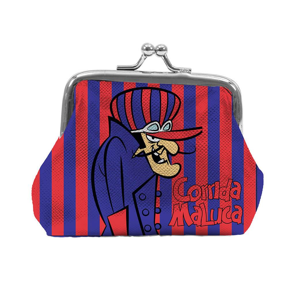 Porta Moedas Hanna Barbera Wacky Dick Vigarista Fundo Listrado em PVC - Urban - 9x8 cm