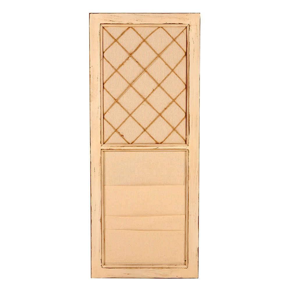 Porta Panfletos Bege em Madeira - 92x38 cm