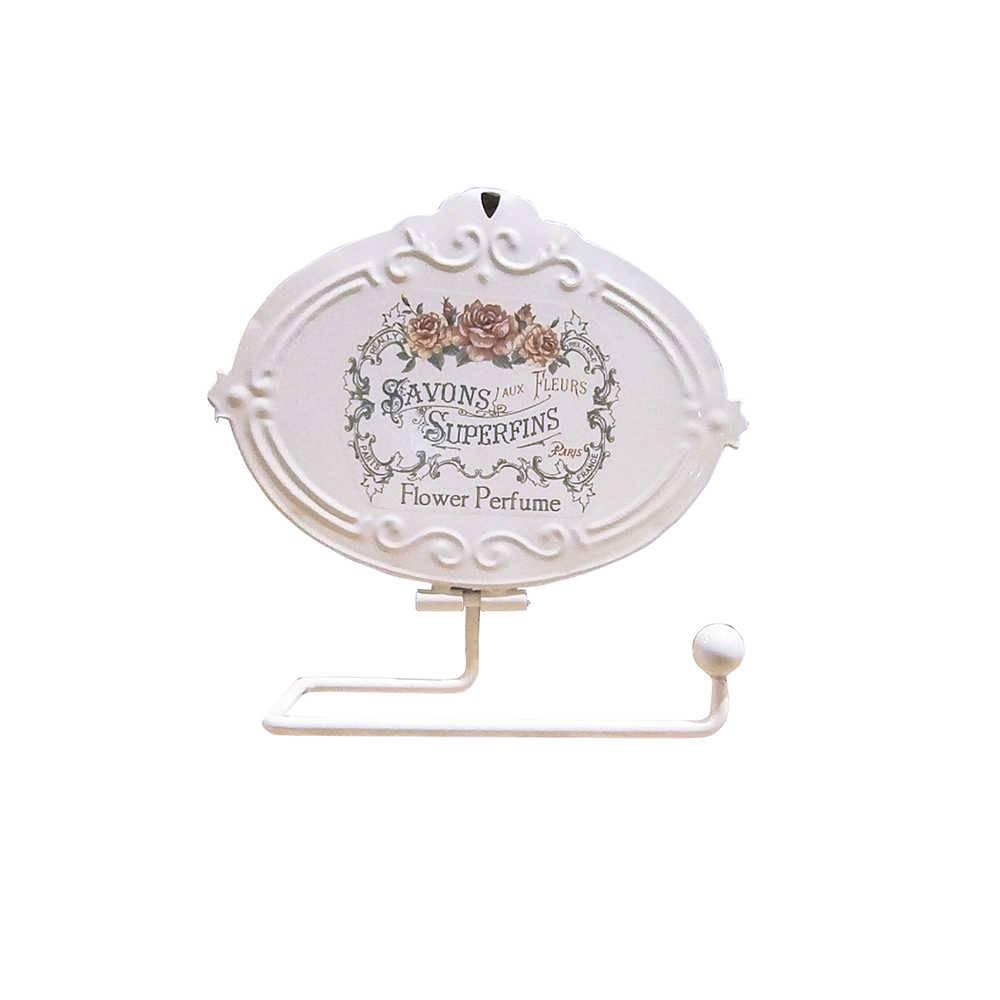 Porta Papel Higiênico Savon Superfins Branco em Metal - Urban - 18x7 cm