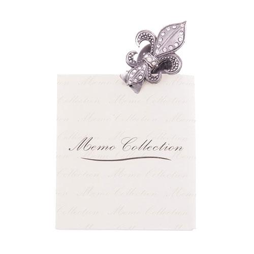 Porta Recado Flor de Liz em Metal - 5x4 cm