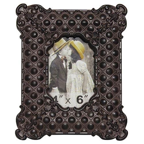 Porta-Retrato Classic Oldway - Foto 10x15 cm - Preto em Metal - 25x20 cm