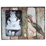 Porta-Retrato Pássaro com Coroa Oldway em Madeira