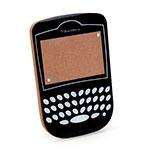 Porta-Retrato Celular Blackberry Preto em Madeira/Acrílico - 18x12 cm
