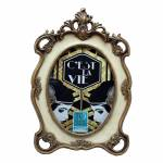 Porta Retrato Clássico Flor de Liz Grande em Resina