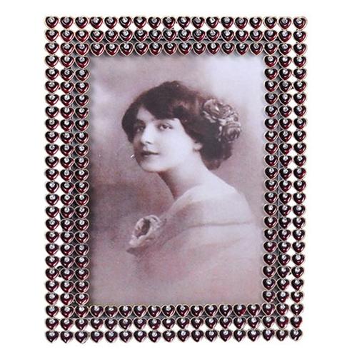 Porta-Retrato Condessa Vermelho em Metal - 18x13 cm