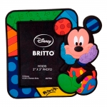 Porta-Retrato Imantado Disney Mickey Multicolorido em Vinil - 16x10 cm