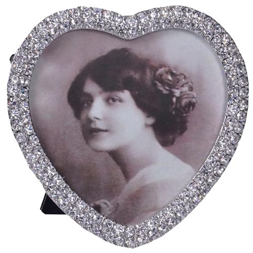 Porta-Retrato Duquesa Heart Prata em Metal - 10x10 cm