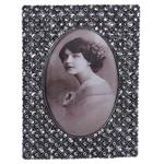 Porta-Retrato Duquesa Prata Envelhecido em Metal - 18x14 cm