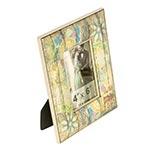Porta-Retrato Elefante Multicolorido Envelhecido - Foto 10x15 cm - Oldway em Madeira - 24x18 cm