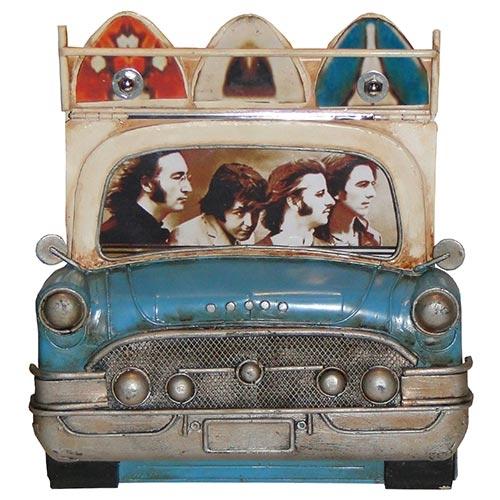 Porta-Retrato Frente de Carro Azul c/ Pranchas Oldway - 22x20 cm