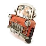 Porta-Retrato Frente de Carro Vermelho Oldway em Metal