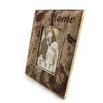 Porta-Retrato Home Silver Birds Oldway em Metal e Tecido -  22x27 cm