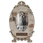 Porta-Retrato Linho New York Oldway Bege - Metal e Madeira