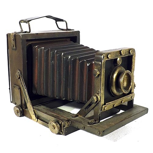 Porta-Retrato Máquina Fotográfica Anos 40 Oldway - 23x18 cm