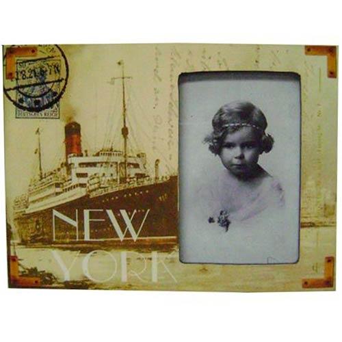 Porta Retrato MDF New York Oldway - 18x24x2 cm