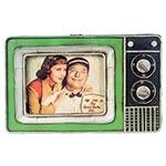 Porta-Retrato Mini TV Verde Oldway em Metal - 25x23 cm