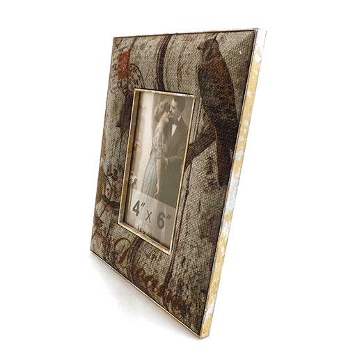 Porta-Retrato Old Dream Birds Oldway em Metal e Tecido - 18x24 cm