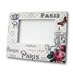 Porta-Retrato Paris Branco - Foto 10x15 cm - em MDF - 24x19 cm