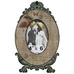 Porta-Retrato Pássaro Selo - Foto 10x15 cm - Oldway em Madeira - 30x18 cm