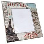 Porta-Retrato Seda Paris Azul - Foto 20x25 cm - Oldway em Madeira - 37x32 cm