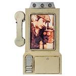 Porta-Retrato Telefone Bege Oldway em Metal - 32x31 cm