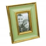 Porta-Retrato Verde e Dourado Grande em Resina - 27x22 cm