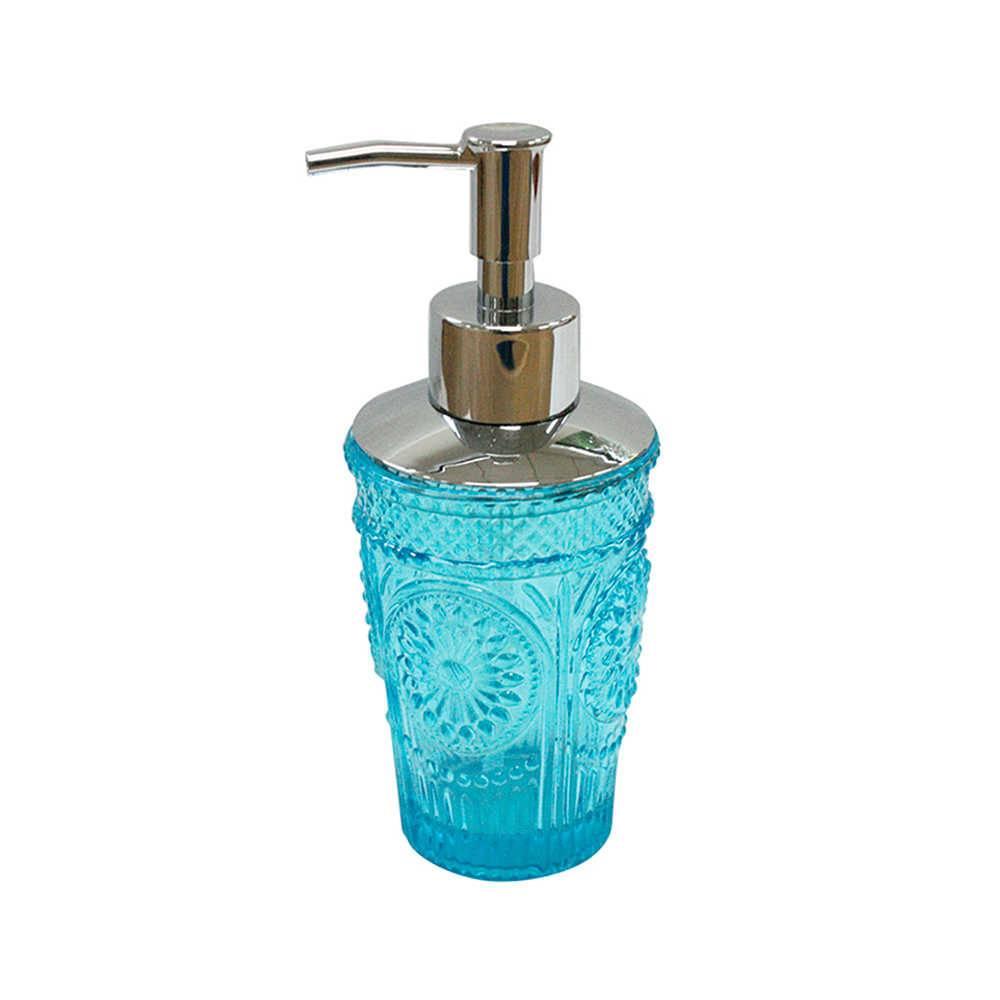 Porta Sabonete Líquido Grand Ma Cup Azul em Vidro - Urban - 18x7,5 cm