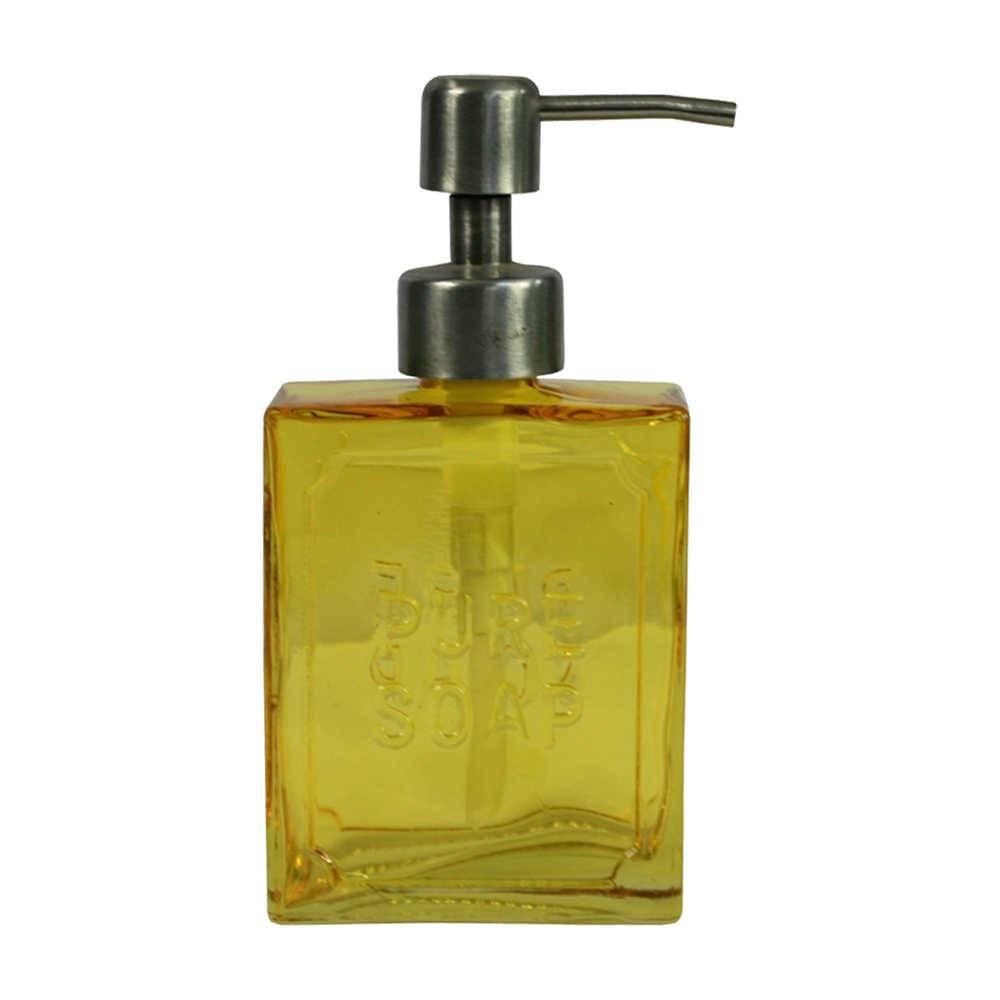 Porta Sabonete Líquido Pure Soap Amarelo em Vidro - Urban - 16,5x8 cm
