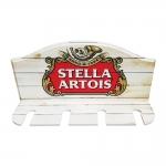 Porta Taças de Vinho Cerveja Stella Vermelho - 4 Taças - em MDF - 30x23 cm