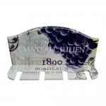 Porta Taças de Vinho Chateau Julien Roxo - 4 Taças - em MDF - 30x23 cm