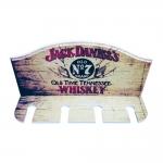 Porta Taças de Vinho Jack Daniels Tennessee - 4 Taças - em MDF - 30x23 cm