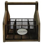 Porta Talheres Cutlery Oldway - Madeira - 25x22 cm