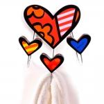 Porta Toalhas New Day - Romero Britto - em Cerâmica - 21x17 cm