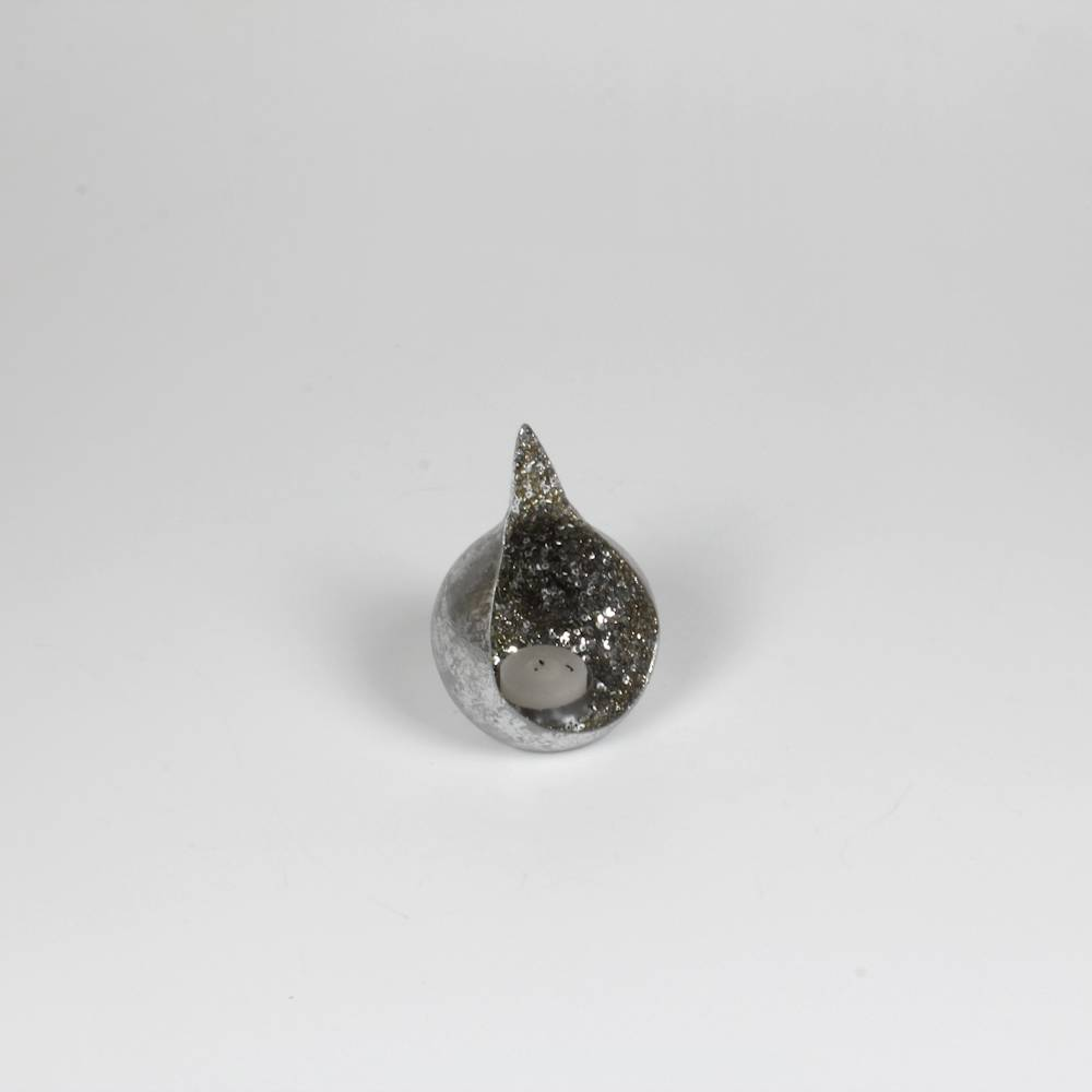 Castiçal Chonch Prata em Metal - Prestige - 5x3 cm