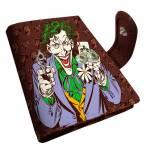 Porta-Cartão DC Comics Joker Marrom em PU - Urban - 10,5x8 cm