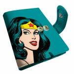 Porta-Cartão DC Comics Wonder Woman Azul em PU - Urban - 10,5x8 cm