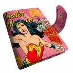Porta-Cartão DC Comics Wonder Woman Rosa em PU - Urban - 10,5x8 cm