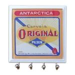 Porta-Chaves - 4 Ganchos - Cerveja Original em Vidro - 11x11 cm