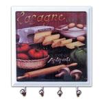 Porta-Chaves - 4 Ganchos - Lasagne em Vidro - 11x11 cm