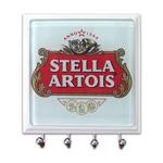 Porta-Chaves - 4 Ganchos - Stella Rótulo em Vidro - 11x11 cm