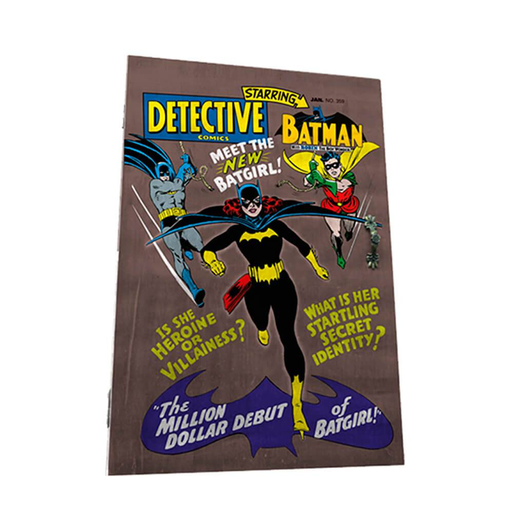 Porta-Chaves 6 Ganchos DC Comics Batgirl Marrom em Madeira - Urban - 31x21 cm