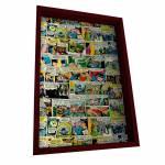 Porta-Chaves 6 Ganchos DC Comics Colorido em Madeira - Urban - 31x21 cm