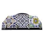 Porta-Chaves Azulejos em Madeira - 4 Ganchos - 29x12 cm
