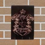 Porta-Chaves Barber Kings Preto em Vidro - 30x20 cm